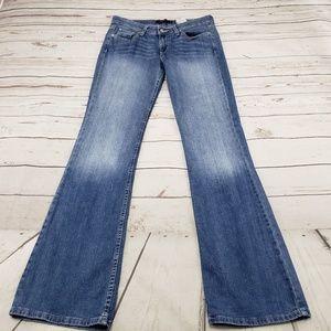Levis Jeans Size 7 L Superlow 518 Boot Cut Womens